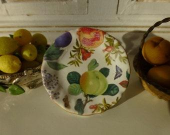 Summer Fruit Plate for Dollhouse