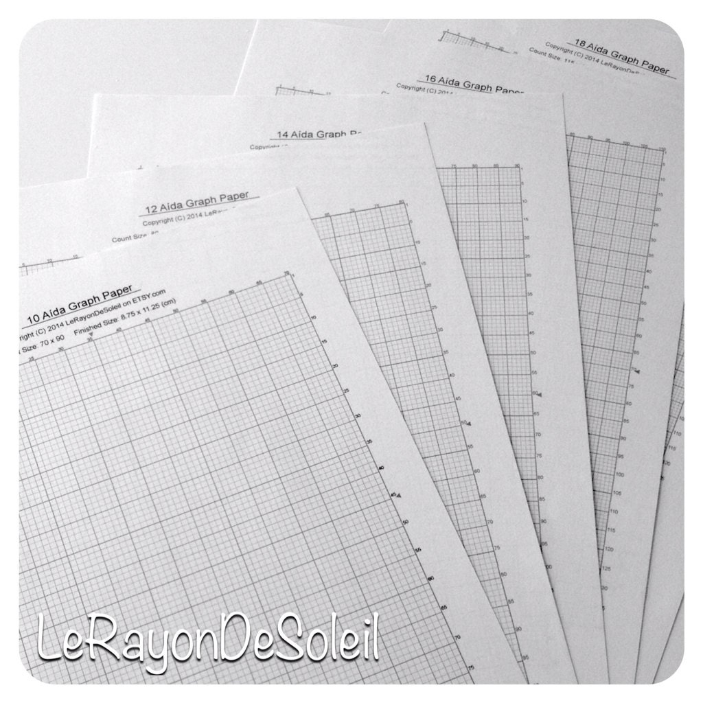 Aida 10 12 14 16 and 18 cross stitch graph paper grid template – Cross Stitch Graph Paper