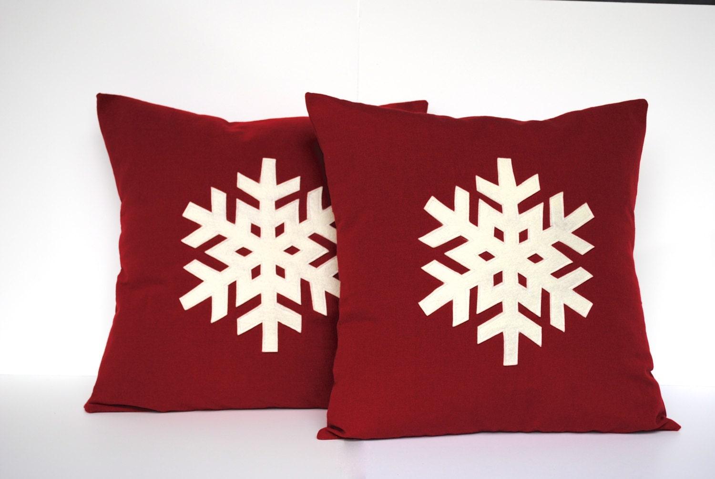 One Snowflake Christmas Pillow Cover By ThatDutchGirlPillows