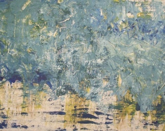 """STORM AT SEA - large original modern abstract wall decor painting, size: 23"""" X 38"""" (60 X 98 cm)"""