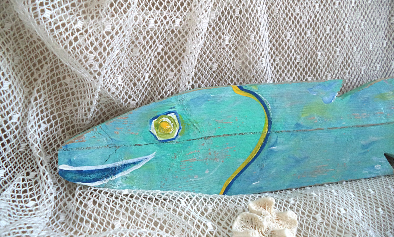 Funky 22 wooden fish beach wall art wood fence for Fish wall art