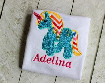 My Pony Rainbow inspired shirt Girls Birthday  Little Pony clothing