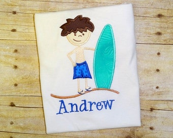 boys beach surfer surfboard shirt summer clothing little boy beach birthday shirt baby boy personalized summer clothing boy surfer birthday