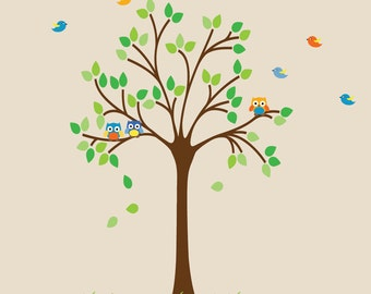 REUSABLE Tree Wall Decal Non-toxic PVC Free Wall Decal T103