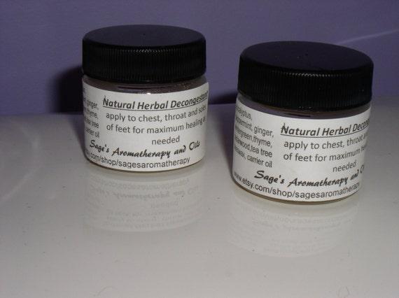 Herbal decongestant salve, NATURAL VICKS, chest rub, cold medicine, bronchitis,asthma, essential oils, child safe, natural healing