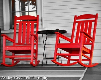 Popular items for red rocking chair on Etsy