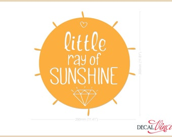 Little Ray of Sunshine - Small Vinyl Wall Decal