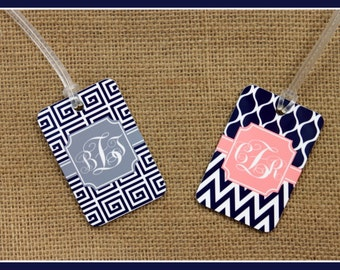 Bag Tags Monogram Luggage Tag Custom Monogrammed Gifts Gym Bag Luggage Tags Personalized Custom Gifts Bridal Party Bridesmaids Groomsmen