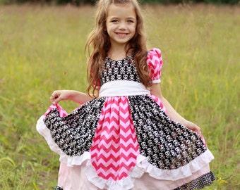 Candy Castle Princess Dress sizes 6m - 10y PDF Pattern