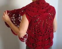 Crochet Circle Vest Pattern,  Easy Crochet Pattern, Digital file