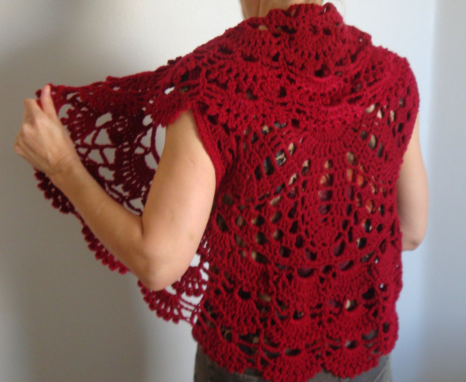 Crochet Circle Vest Pattern, Easy Crochet Pattern, Digital File