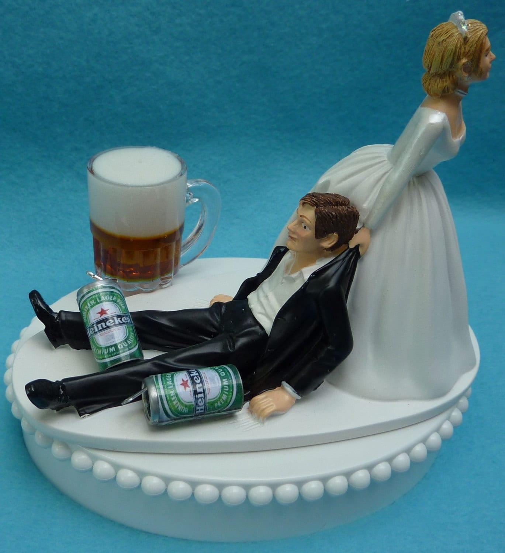 Pin Bride Dragging Groom Game Over Wedding Cake Topper