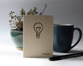 Ideas Mini Journal, Notebook, Jotter - Blank Inside - Handmade & Hand Stamped