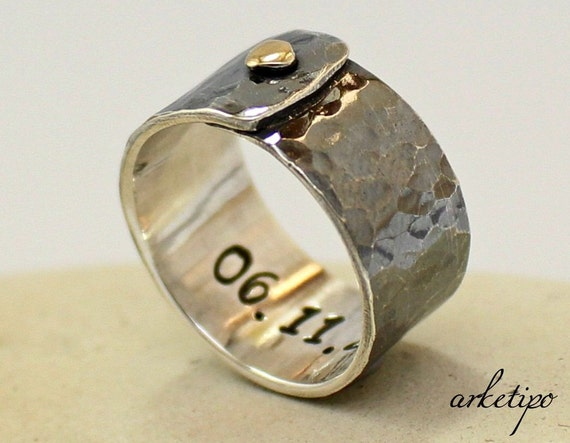 Personalized sterling Silver Ring Mens Womens