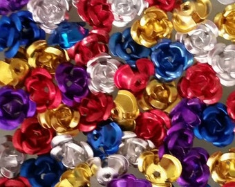 50pcs 6mm aluminum flower Appliques DIY craft decoration /accessories/deco/decoden