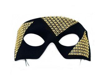 Edge Black-Gold Men's Masquerade Mask - A-1181G-E