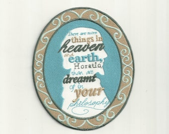 William Shakespeare Quote, Cameo Patch! Custom Made!