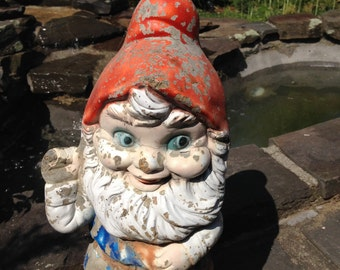 Garden Gnome On Etsy A Global Handmade And Vintage