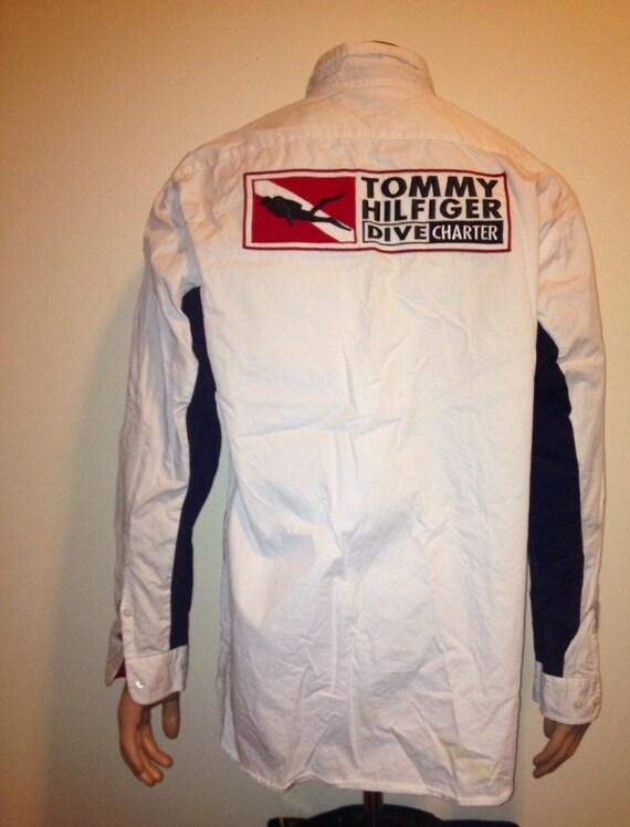 Vintage 1990s Tommy Hilfiger Button Down Swag Hip Hop Shirt
