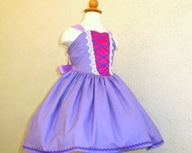 Rapunzel dress - everyday princess dress - princess dress up - Rapunzel costume - Halloween princess costume