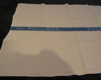 1923 pullman towel, blue and white