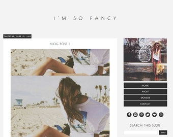 I'm So Fancy-- Premade Blogger Template