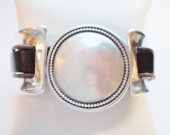 SALE: 20mm Opening, 36mm Silver Coin Slider, Jewelry Finding, Bag, Boots, Craft Supply, 2 strand, double strand, man,