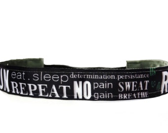 non slip headband Run  No Pain No Gain