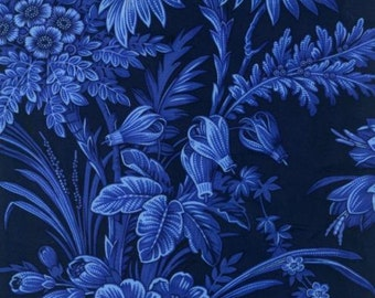 WOW!  This fabric is a navy blue with lighter blue flowers.
