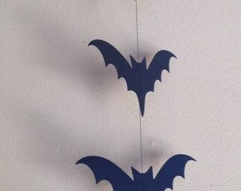 Bat Garland, 12 Hanging Bats, Paper Garland, Halloween Garland