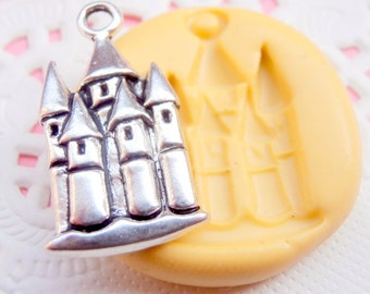 Castle Mold Mould Resin Clay Fondant Wax Soap Flexible Mold