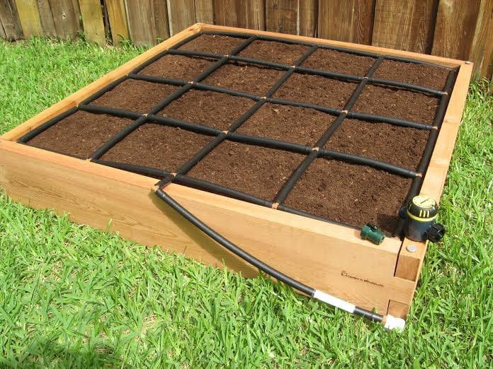 4x4 cedar raised garden kit