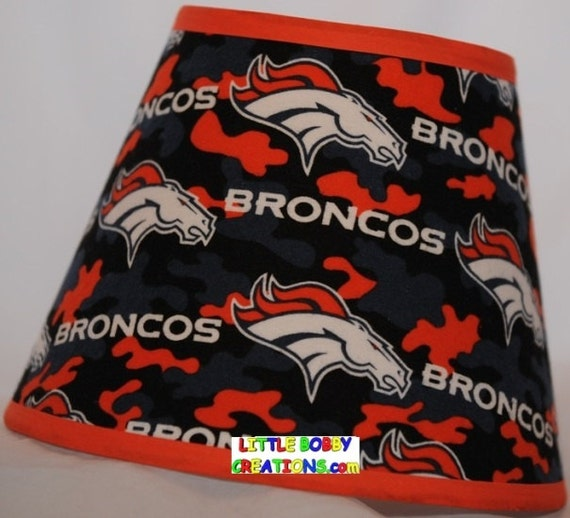 NFL Denver Broncos Fabric Lamp Shade 10 Sizes To Choose From