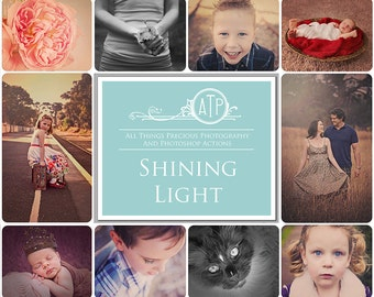 Fine Art Digital Shining Light Photoshop Actions Set