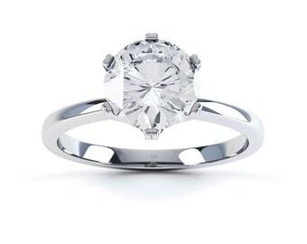 Arya 18ct White Gold Round Solitaire Diamond Engagement Ring 0.75ct