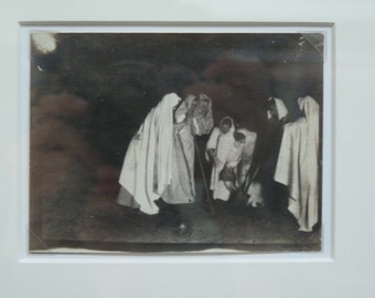 Framed Mysterious Vintage Black and White Photo From The 1920s