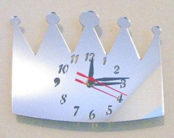 King of Crowns Clock Mirror - 2 Sizes Available