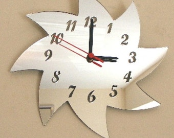 Spiral Star Clock Mirror - 2 Sizes Available