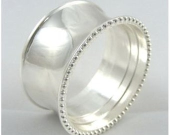 Silver Ring Design Napkin Ring Set - Diameter 4.5 cm - Available in Sets of 4