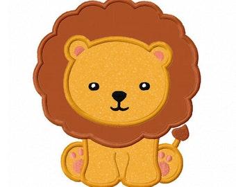 Lion Baby Applique Machine Embroidery Design NO:0161