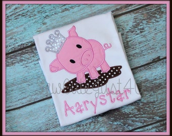 Princess Piggy Personalized Tee