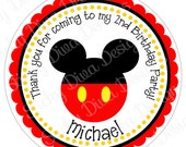 PERSONALIZED STICKERS - Custom Adorable Mickey Inspired Personalized Labels -  Gloss Labels