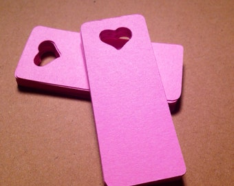 30  Heart Tags - Select a Color - Valentine's Day,  Wedding Favor, Bridal Shower, Merchandise Tags, Place cards, Favor Tags, Punched heart