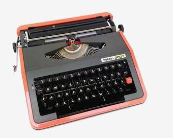 Typewriter Hebros 1300F vintage manual typewriter soviet red typewriter mid century typewriter working copywiter office unused typewriter