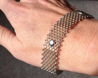 Italian sterling silver mesh bracelet, 18g