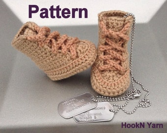 Free Crochet Baby High Tops Pattern : Crochet Baby Tennis Shoe Pattern