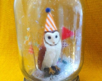 "Party Animal ""Snow Globe"" - Owl!"