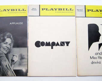 Set Of Three Broadway Playbills Applause Company Miss
