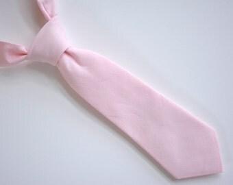 Kids Necktie-Soft pink , baby necktie, boys neck tie, ring-bearer, photo prop