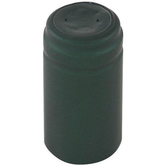 Home Wine Making Matte Forest Green Thermoseal Heat Shrink Decorative Hoods For Wine Bottles